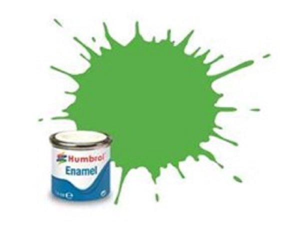 Humbrol Barva emailová lesklá - Zelená (Fluorescent Signal Green) - č. 208
