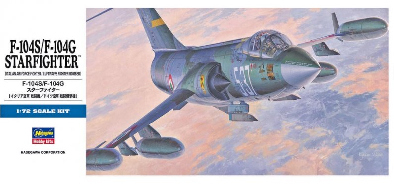 Hasegawa F-104S/F-104G Starfighter (Italian / Luftwaffe)