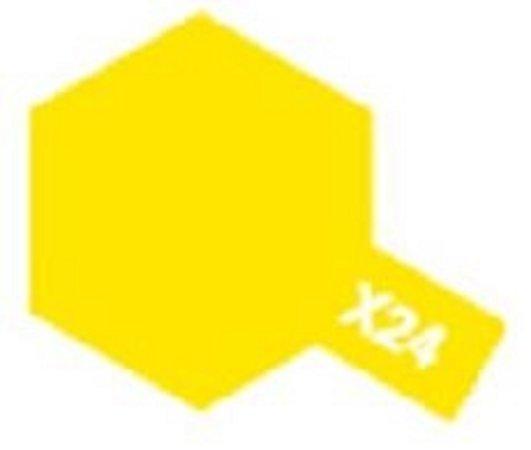 Tamiya Barva emailová lesklá - Žlutá čirá (Clear Yellow) X-24