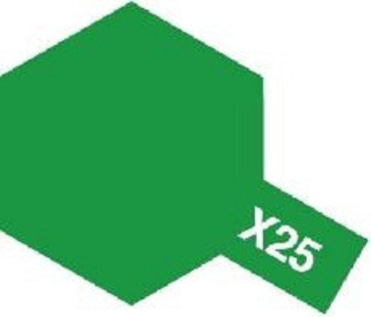 Tamiya Barva emailová lesklá - Zelená čirá (Clear Green) X-25