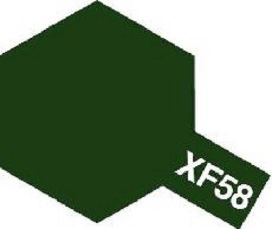 Tamiya Barva emailová matná - Olivová zelená (Olive Green) XF-58