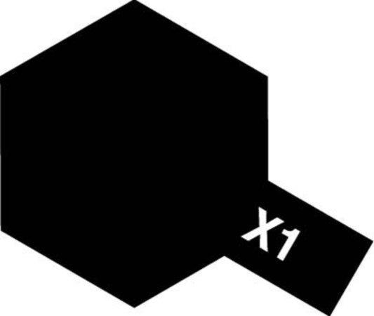 Tamiya Barva akrylová lesklá - Černá (Black) - Mini X-1