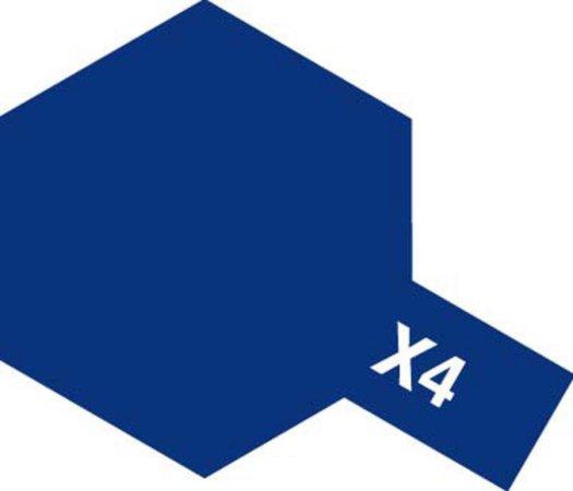 Tamiya Barva akrylová lesklá - Modrá (Blue) - Mini X-4