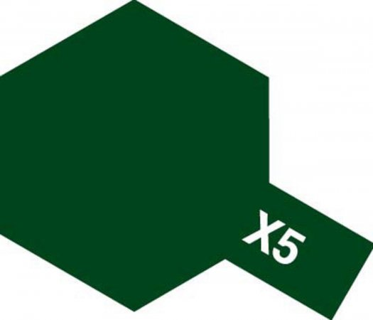 Tamiya Barva akrylová lesklá - Zelená (Green) - Mini X-5
