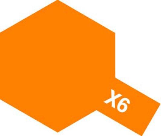 Tamiya Barva akrylová lesklá - Oranžová (Orange) - Mini X-6