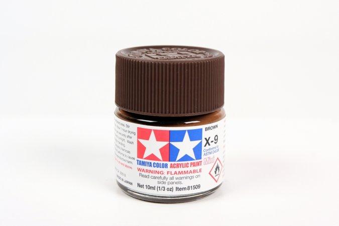 Tamiya Barva akrylová lesklá - Hnědá (Brown) - Mini X-9
