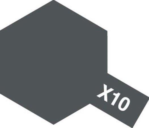 Tamiya Barva akrylová lesklá - Zbraňový kov (Gun Metal) - Mini X-10