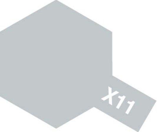 Tamiya Barva akrylová lesklá - Chromově stříbrná (Chrome Silver) - Mini X-11