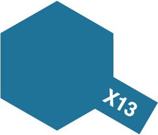 Tamiya Barva akrylová lesklá - Kovová modrá (Blue Metallic) - Mini X-13