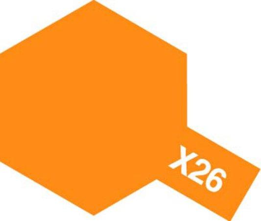 Tamiya Barva akrylová lesklá - Oranžová čirá (Clear Orange) - Mini X-26