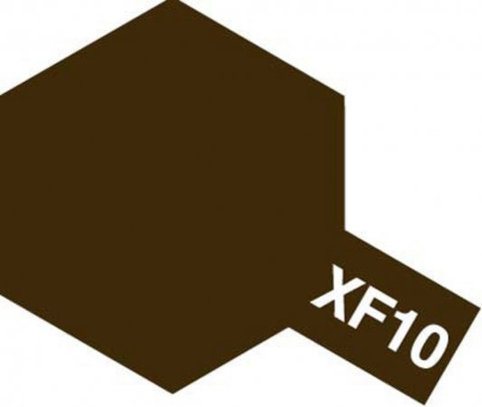 Tamiya Barva akrylová matná - Hnědá (Brown) - Mini XF-10