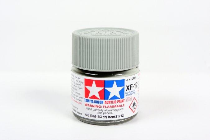 Tamiya Barva akrylová matná - Japonská námořní šedá (J.N.Grey) - Mini XF-12