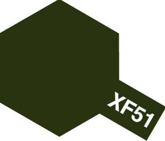 Tamiya Barva akrylová matná - Khaki (Khaki Drab) - Mini XF-51