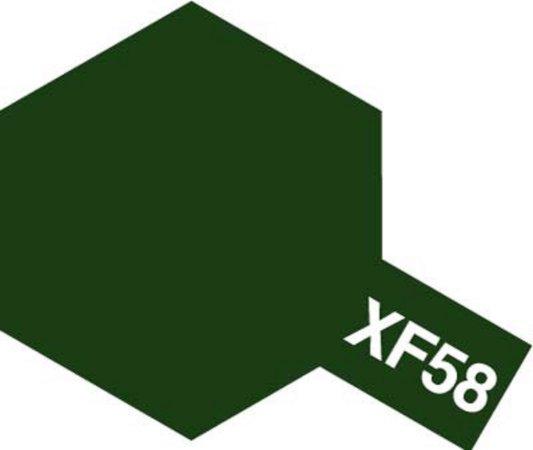 Tamiya Barva akrylová matná - Olivová zelená (Olive Green) - Mini XF-58