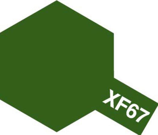 Tamiya Barva akrylová matná - NATO zelená (NATO Green) - Mini XF-67