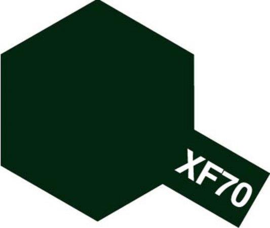 Tamiya Barva akrylová matná - Tmavá zelená 2 (Dark Green 2 - IJN) - Mini XF-70