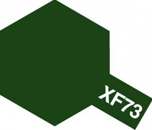 Tamiya Barva akrylová matná - Tmavě zelená (Dark Green - JGSDF) - Mini XF-73