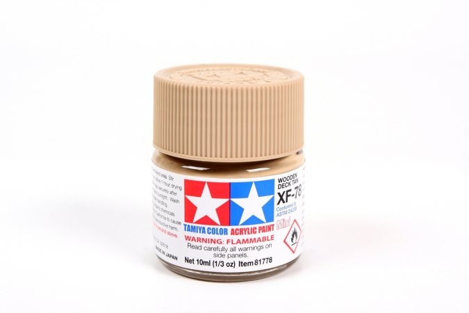 Tamiya Barva akrylová matná - Světle hnědá (Woden Deck Tan) - MIni XF-78