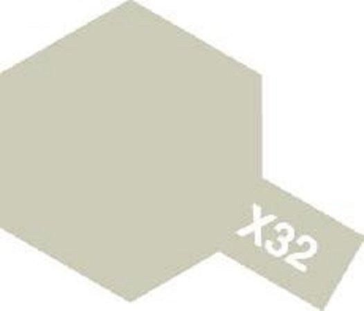Tamiya Barva emailová metalická - Titanově stříbrná (Titanium Silver) X-32
