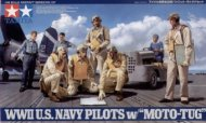 Tamiya WWII U.S. Navy Pilots with Moto-Tug
