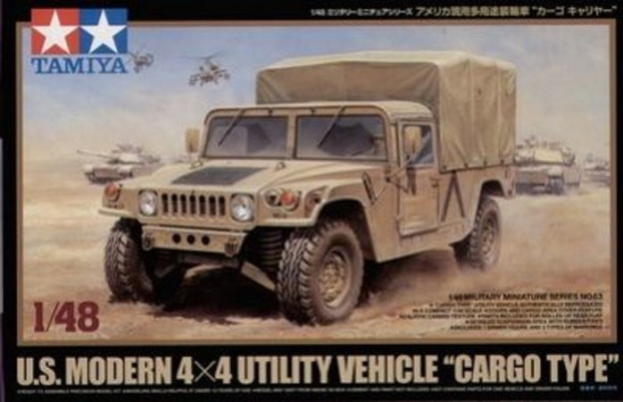 Tamiya US Modern 4x4 Utility Vehicle - Cargo Type