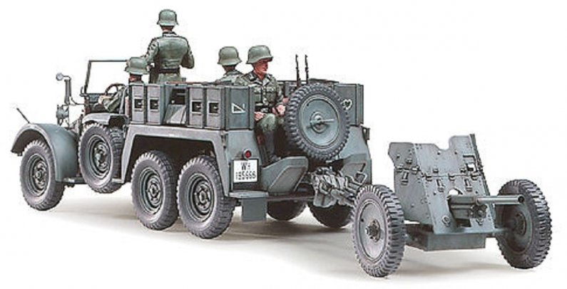 Tamiya Krupp Protze 1 ton (6x4) Kfz.69 Towing Truck with 3,7 cm Pak