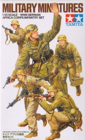 Tamiya WWII German Africa Corps Infantry Set