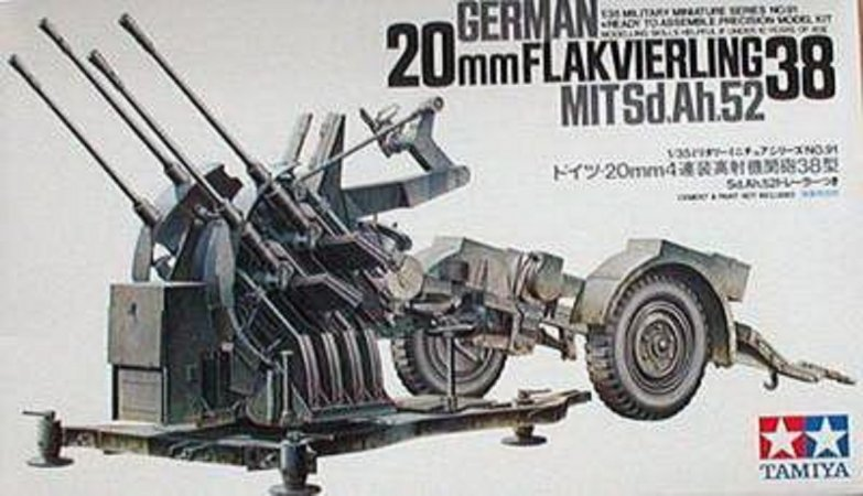 Tamiya German 20 mm Flakvierlink 38