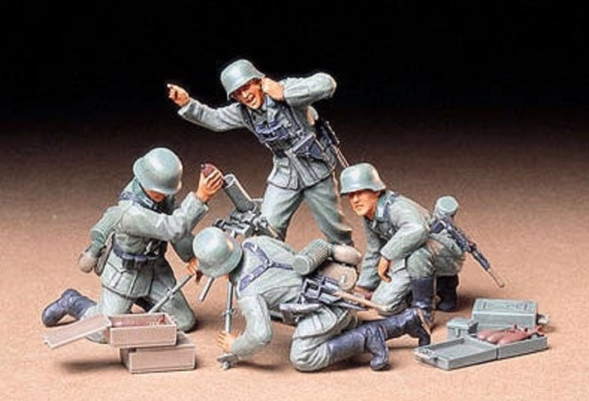 Tamiya German Infantry Mortar Team