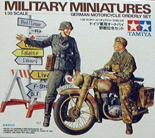 Tamiya German Motorcycle Orderly Set