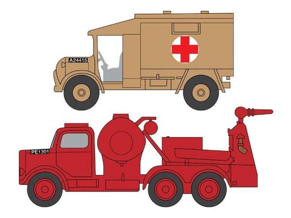 Airfix RAF Emergency Set (Austin K.2 Ambulance + Crash Tender) - Výprodej