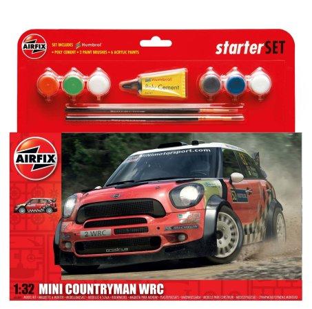 Airfix Starer Set - Plastikový model závodního auta MINI Countryman WRC