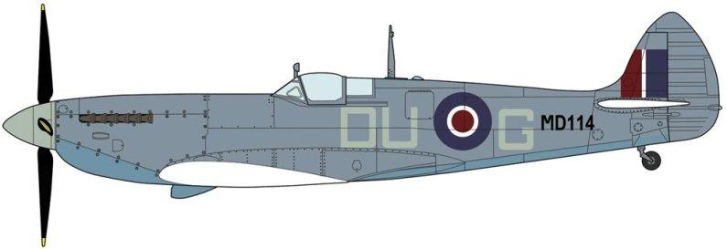 Hasegawa Spitfire Mk VII/VIII Pointed Wing - Limitovaná edice