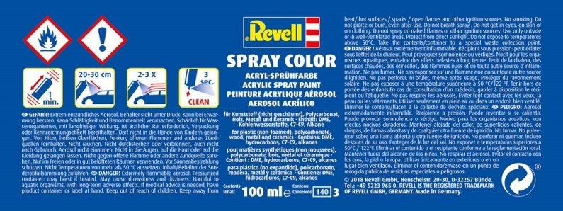 Revell Barva ve spreji akrylová matná - Černá (Black) - č. 08