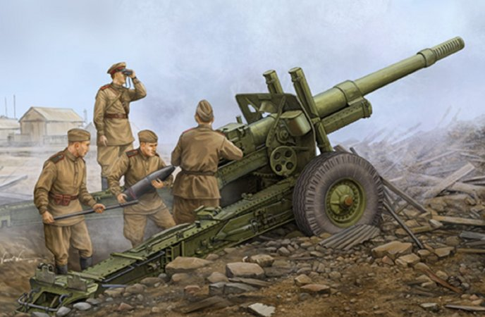 Trumpeter Soviet ML-20 152 mm Howitzer (With M-46 Carriage) - Výprodej