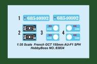 Hobby Boss French GCT 155mm AU-F1 SPH - Výprodej