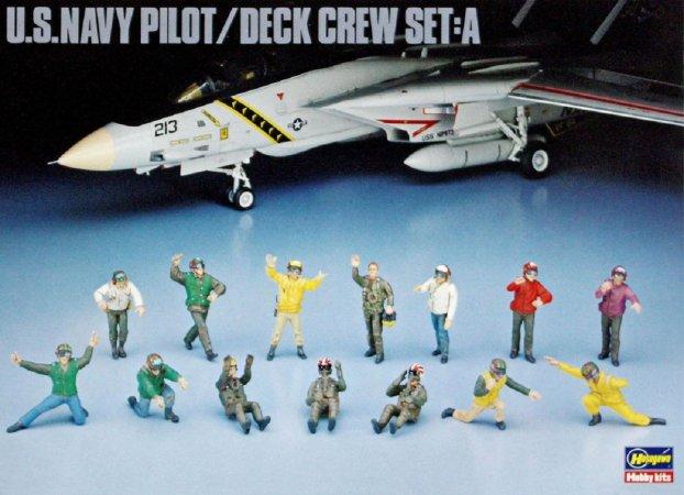 Hasegawa U.S. Navy Pilot/Deck Crew Set A - Výprodej