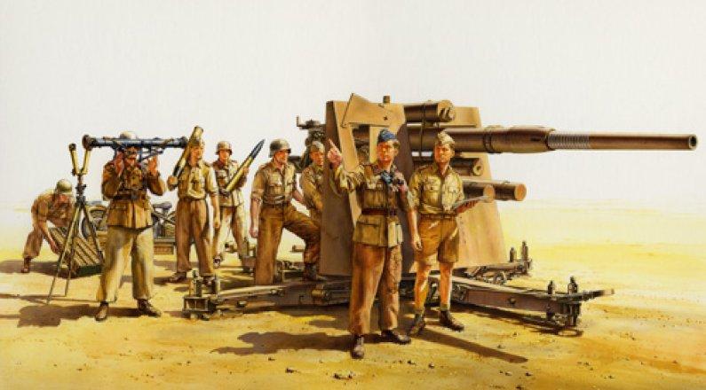 Tamiya Flak 36 8,8cm North Africa