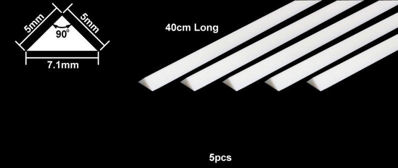 Tamiya Profil Plast 5 mm Triangle *5