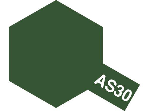 Tamiya Barva ve spreji polomatná - Tmavě zelená (Dark Green 2 RAF) AS-30