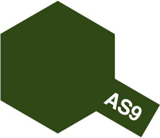 Tamiya Barva ve spreji polomatná - Tmavě zelená (Dark Green RAF) AS-9