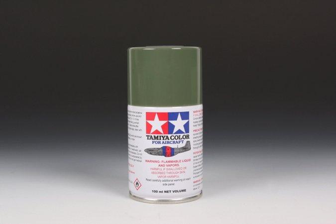 Tamiya Barva ve spreji polomatná - Olivově zelená (Olive Green - USAF) AS-14