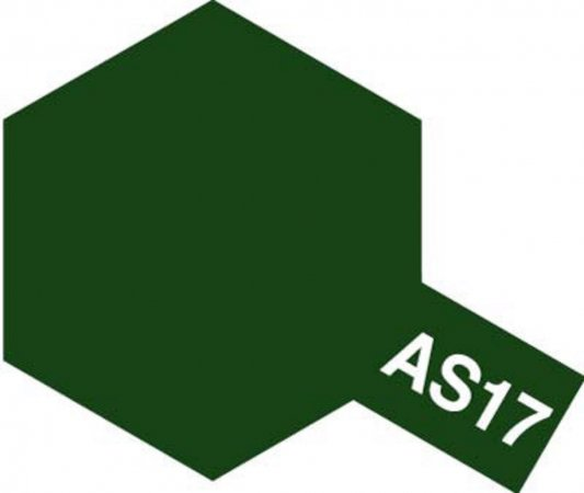 Tamiya Barva ve spreji polomatná - Tmavě zelená (Dark Green - IJA) AS-17