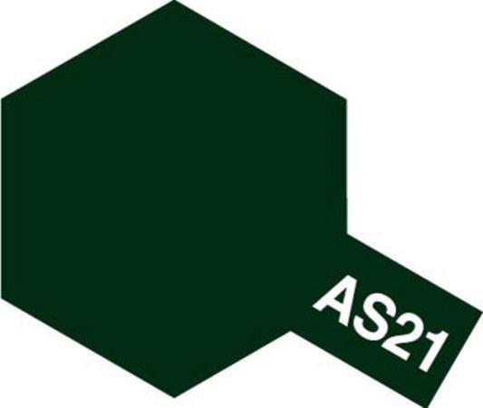 Tamiya Barva ve spreji polomatná - Tmavě zelená (Dark Green 2 -IJN) AS-21