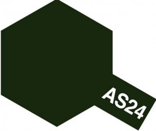 Tamiya Barva ve spreji polomatná - Tmavě zelená (Dark Green Luftwaffe) AS-24