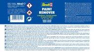 Revell Paint Remover 39617 - odstraňovač barvy - 100 ml