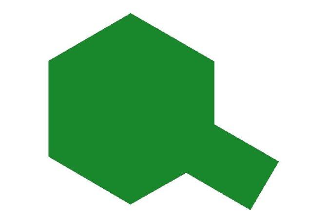 Tamiya Barva ve spreji - Kovová zelená (Metallic Green) PS-17