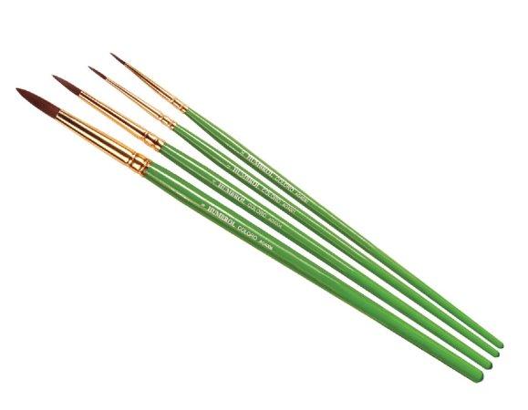 Humbrol Coloro Brush Pack - Sada štětců velikost č. 00, 1, 4 a 8