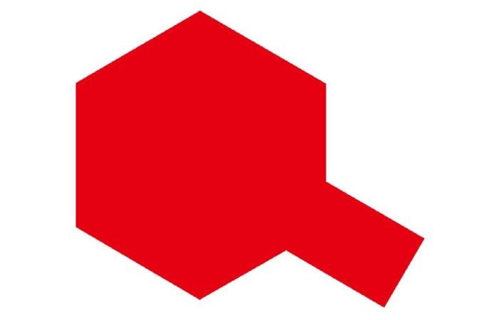 Tamiya Barva ve spreji - Jasná červená (Bright mica Red) PS-60