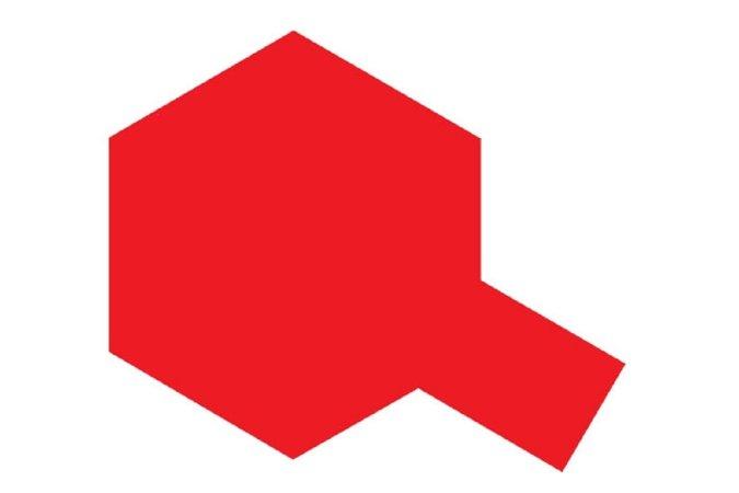 Tamiya Barva ve spreji lesklá - Zářivě červená (Fluorescent Red) TS-36